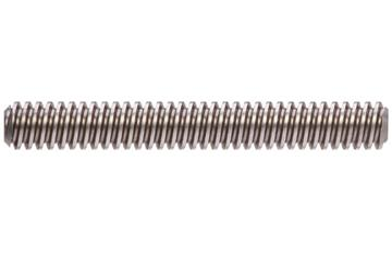drylin® trapezoidal lead screw, left-hand thread, C15 1.0401 steel