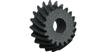 Bevel gear printed in 3D
